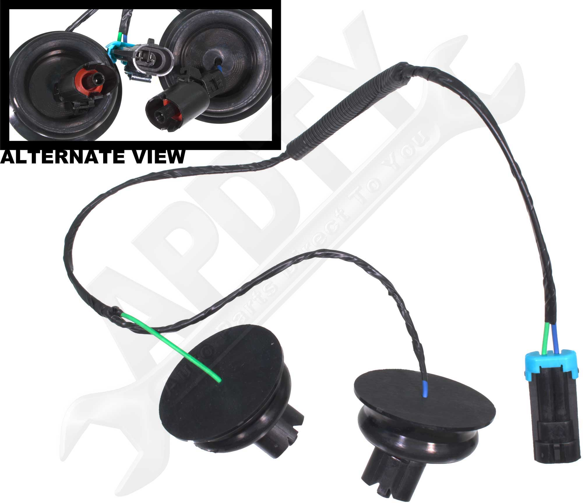 apdty 028144 knock sensor wire harness dual connector kit ... gm knock sensor wiring diagram gm knock sensor wire harness