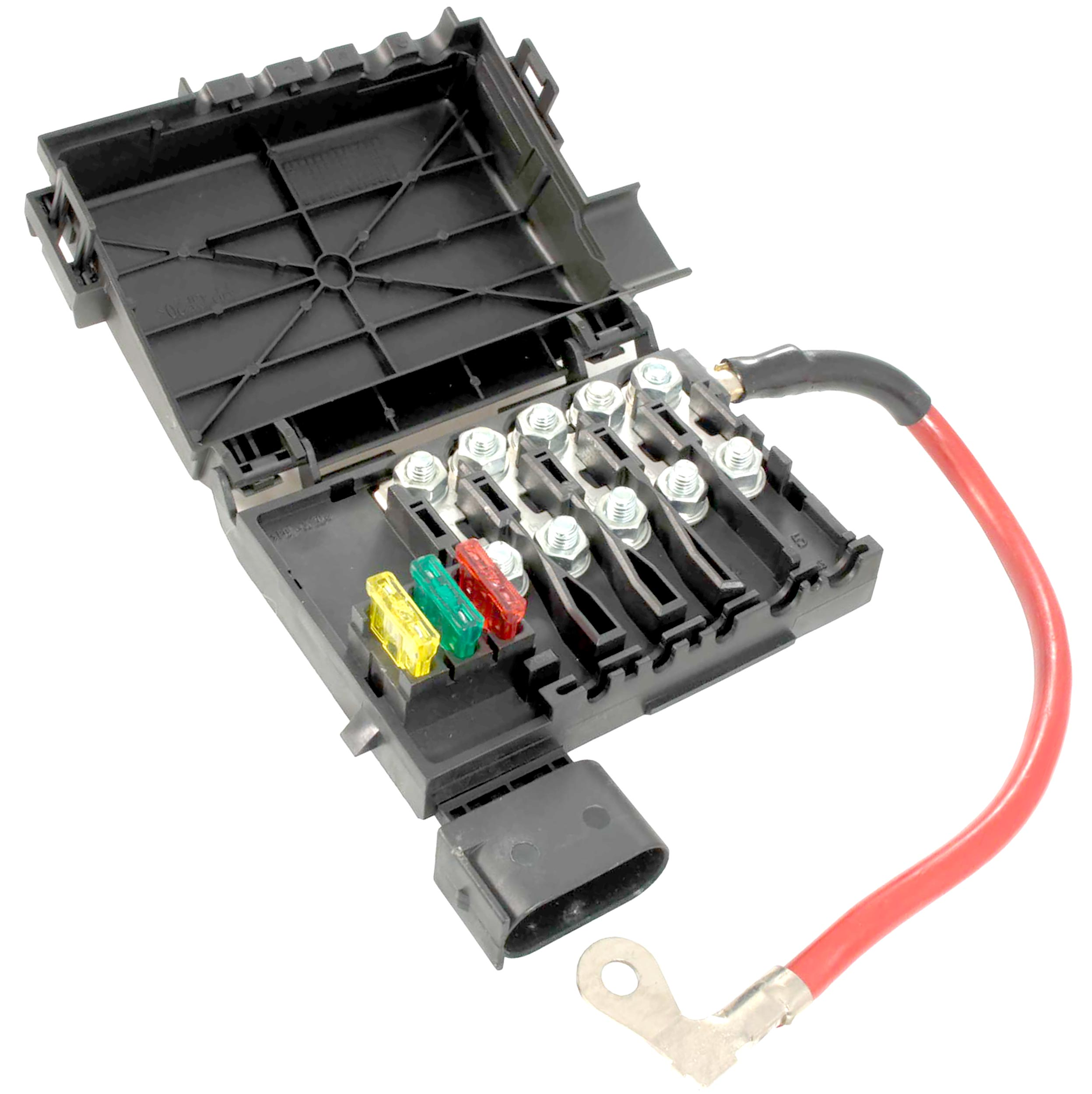 50 amp fuse melted box apdty 035792    fuse       box    assembly battery mounted with new  apdty 035792    fuse       box    assembly battery mounted with new