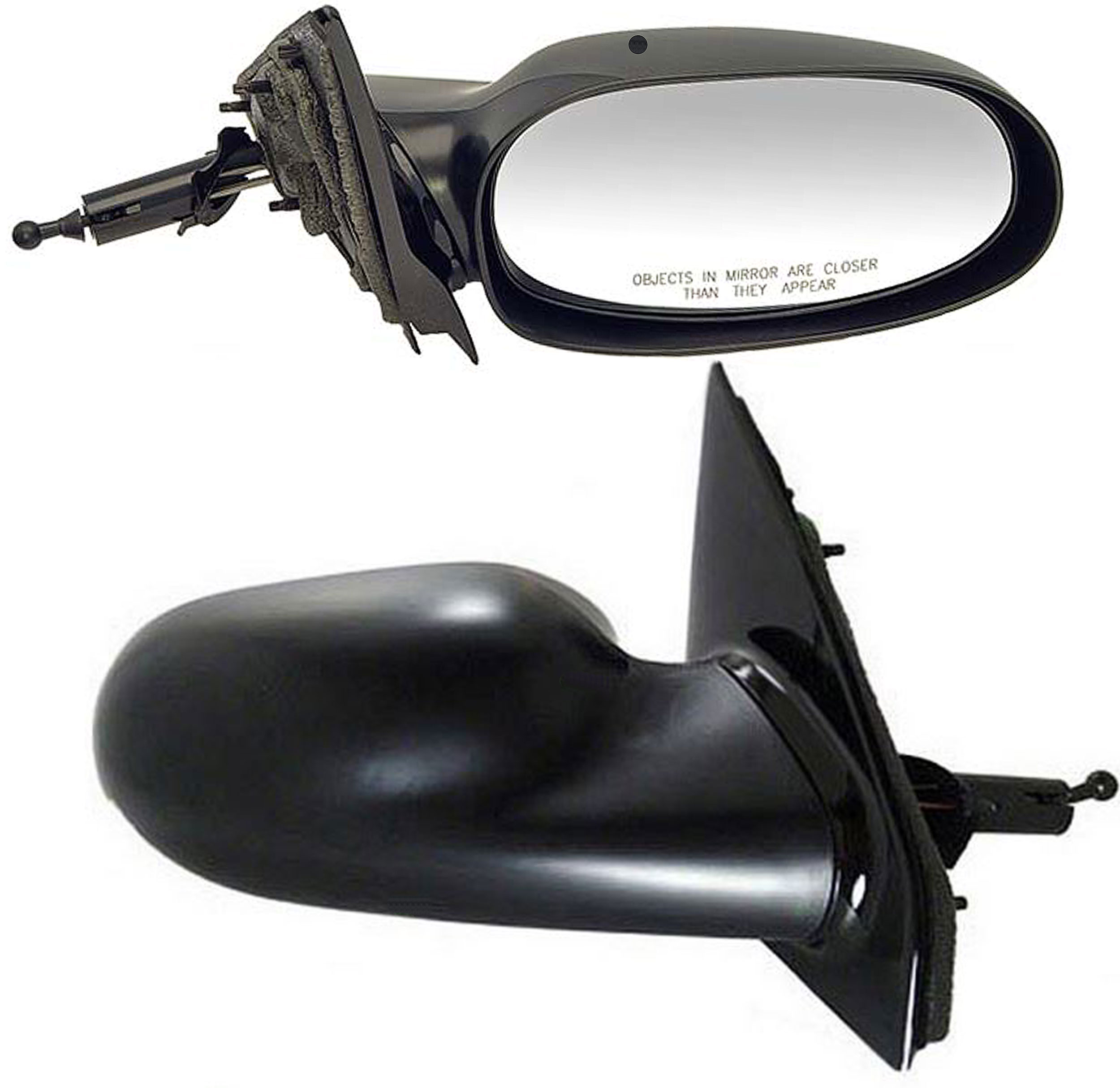70 Dodge Challenger Outside Gray Primered Remote Cable Door Side Mirror LH